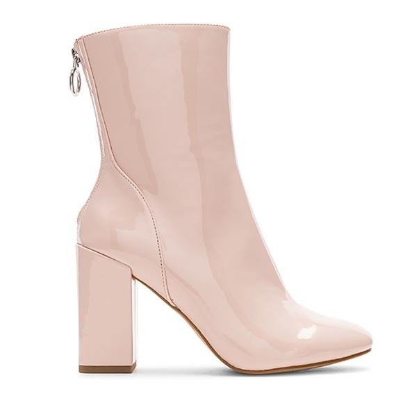 Avec Les Filles Schuhes   Blush Pink Patent Patent Patent Leder Disco 70s Ankle 043022